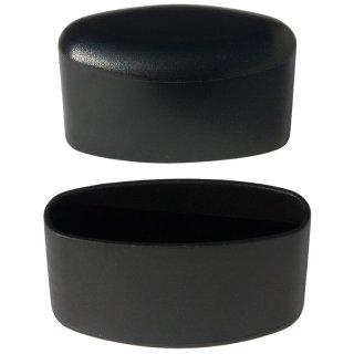 Fußappe Ellipsen oval GM10267 Kunststoff Kappe für Ovalrohr Gartenstühle - Gartenmöbel Garten Stuhl