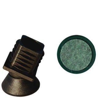 Filz Gelenkgleiter 18150Q Quadratrohr Filzgleiter als Stuhlgleiter  für Stahlrohrstühle