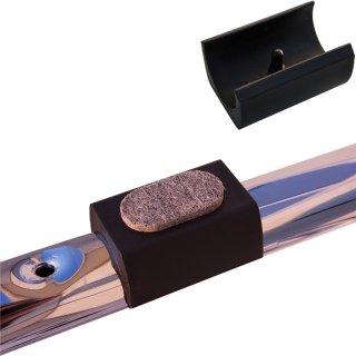 Filzgleiter zum Klipsen 182041 eckig mit Pin für runde Rohre - Stahlrohrstühle - Freischwinger