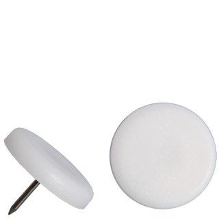 Kunststoff  Nagelgleiter - runder Stuhlgleiter 10214D Gleiter zum Nageln mit Stift  für Holzmöbel - Stühle aus Holz
