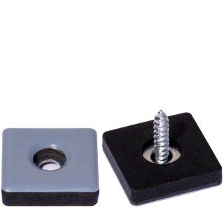 Quadratischer PTFE Teflongleiter HM19191Q Gleiter zum Schrauben für Holzmöbel