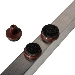 Filzgleiter Einsatz rund 18259 Filz Gleiter | Bodenschoner zum Einsetzen in Bohrungen für Stahlrohrstühle