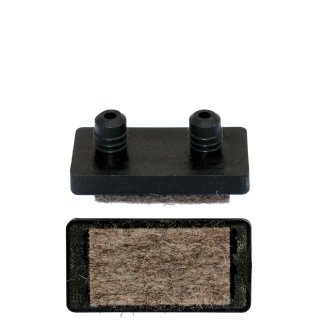Filzgleiter Einsatz 2 Pin 18290 Filz Gleiter rechteckig   Parkettgleiter zum Einsetzen in Bohrungen für Freischwinger Stahlrohrstühle
