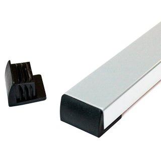Winkelgleiter rechteckig flach liegend Meisterglück SM10243 Kunststoff Fussstopfen für Schulstuhl Schultisch
