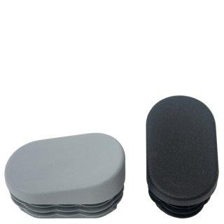 Längsseitig schräger Stuhlfuß GM15121 Fußstopfen für Gartenstühle Stapelstühle ovale  Rohre