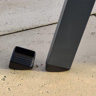 Schräger abgerundeter rechteckiger Gartenmöbel Stopfen|Kunststoff Fußstopfen für Gartenstühle GM152721