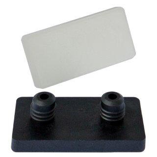 Natur-farbloser Kunststoffgleiter mit 2 Pin 102906 Rechteck Gleiter zum Einsetzen in Bohrungen für Freischwinger Stahlrohrstühle
