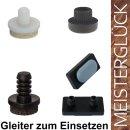 Natur-farbloser Kunststoffgleiter mit 2 Pin 102906...
