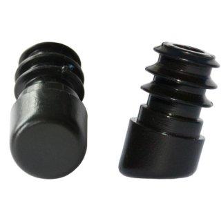 Schräger Kunststoff Fußstopfen 15251 Gleiter für Stahlrohrstühle und runde Rohre