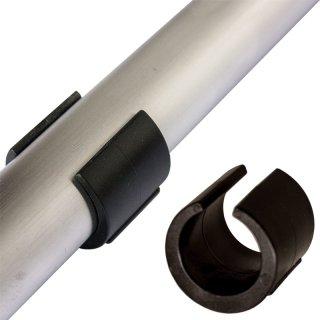 Kunststoff Klemmgleiter rund | Bodenschoner zum Klipsen für Stahlrohrstühle Garten Stuhl Wäschetrockner