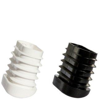 Schräger Fußstopfen für Stühle15101 Stuhlgleiter für ovale  Rohre - Stahlrohrstühle - Stapelstühle