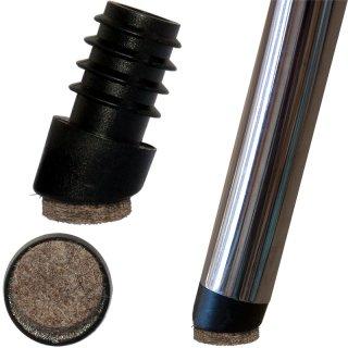 Filzgleiter rund für Stühle schräg 18152511 Stuhlgleiter mit Filz für runde  Rohre | Stahlrohrstühle - Stapelstühle