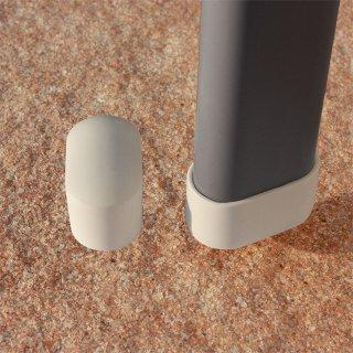 Gartenmöbel Fußkappe GM11265 Gleiter für Ovalrohre - Stahlrohrstühle - Gartenmöbel Metall
